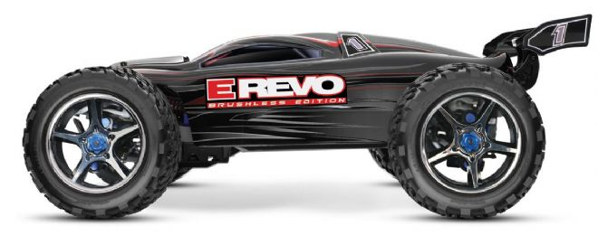 Traxxas 56086-4 E REVO Brushless TSM 1/10th NO Battery or Charger Black Edition